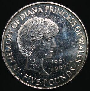 1999-Elizabeth-II-039-Diana-Princess-of-Wales-039-5-Coin-Cupro-Nickel-KM-Coins