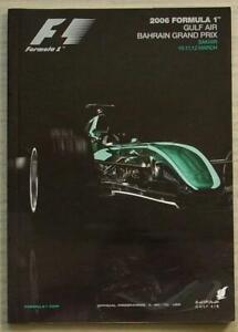 BAHRAIN-GRAND-PRIX-FORMULA-ONE-F1-2006-SAKHIR-Official-Race-Programme