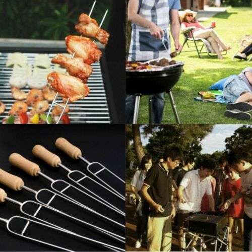 Grilling Skewers 6pcs Stainless Steel U Shaped Barbecue Brazing Fork Needle Tool