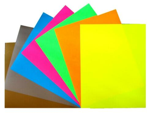 55 €//m² 20 x 25 cm Hotfix-Traceur Film à Repasser diapositive Metallic Flexfolie Neon O