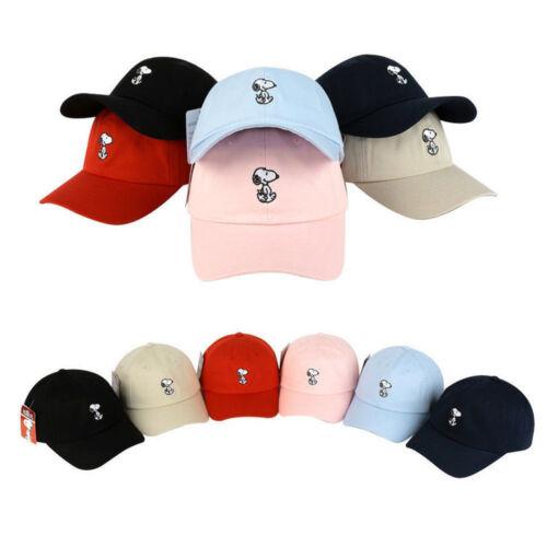 Unisex Mens Womens Authentic Peanuts Snoopy Baseball Cap Adjustable Trucker Hats