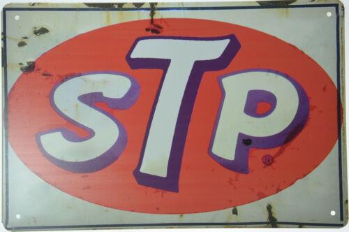 """STP Motor Oil Gas Petrol Auto Racing Car Garage Retro Metal Tin Sign 12x8/"""" NEW"""