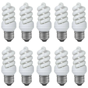 10-x-Paulmann-880-14-Energiesparlampe-Spirale-9W-E27-warmweiss