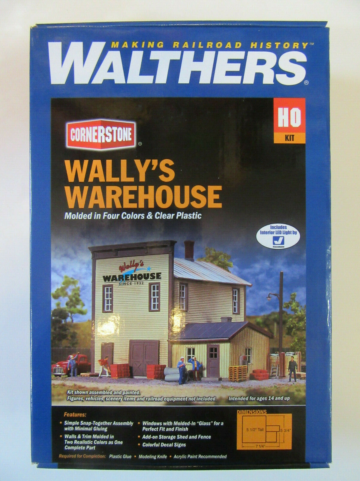 Walthers estados unidos 3654 Wally's Warehouse Western casa estados unidos kit plástico