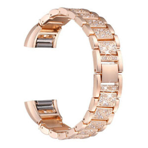 Replacement-Metal-Wrist-Band-Rhinestone-Watch-Strap-Bracelet-For-Fitbit-Charge-2