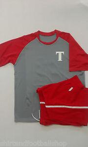 Dettagli su Completo Calcio Portiere TOHO WARNER Nome e Numero Colore Grigio/Rosso