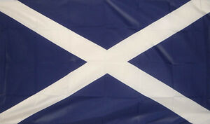 Bonnie Scotland 5' x 3' Flag Scottish Scot Celtic St Andrews Cross Verzamelingen