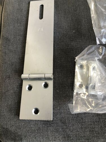 5 INCH HEAVY DUTY HASP AND STAPLE FOR DOOR AND SECURITY LOCKS Steel Satin Silver