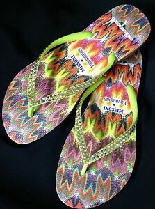 f0d4794d22d1 Image is loading MISSONI-Havaianas-Slim-Rachel-Collector-Crystal-Flip-Flops-