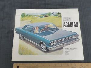 1964-PONTIAC-Acadian-Beaumont-Dealer-Color-Sales-Catalog-Brochure-G-CDN