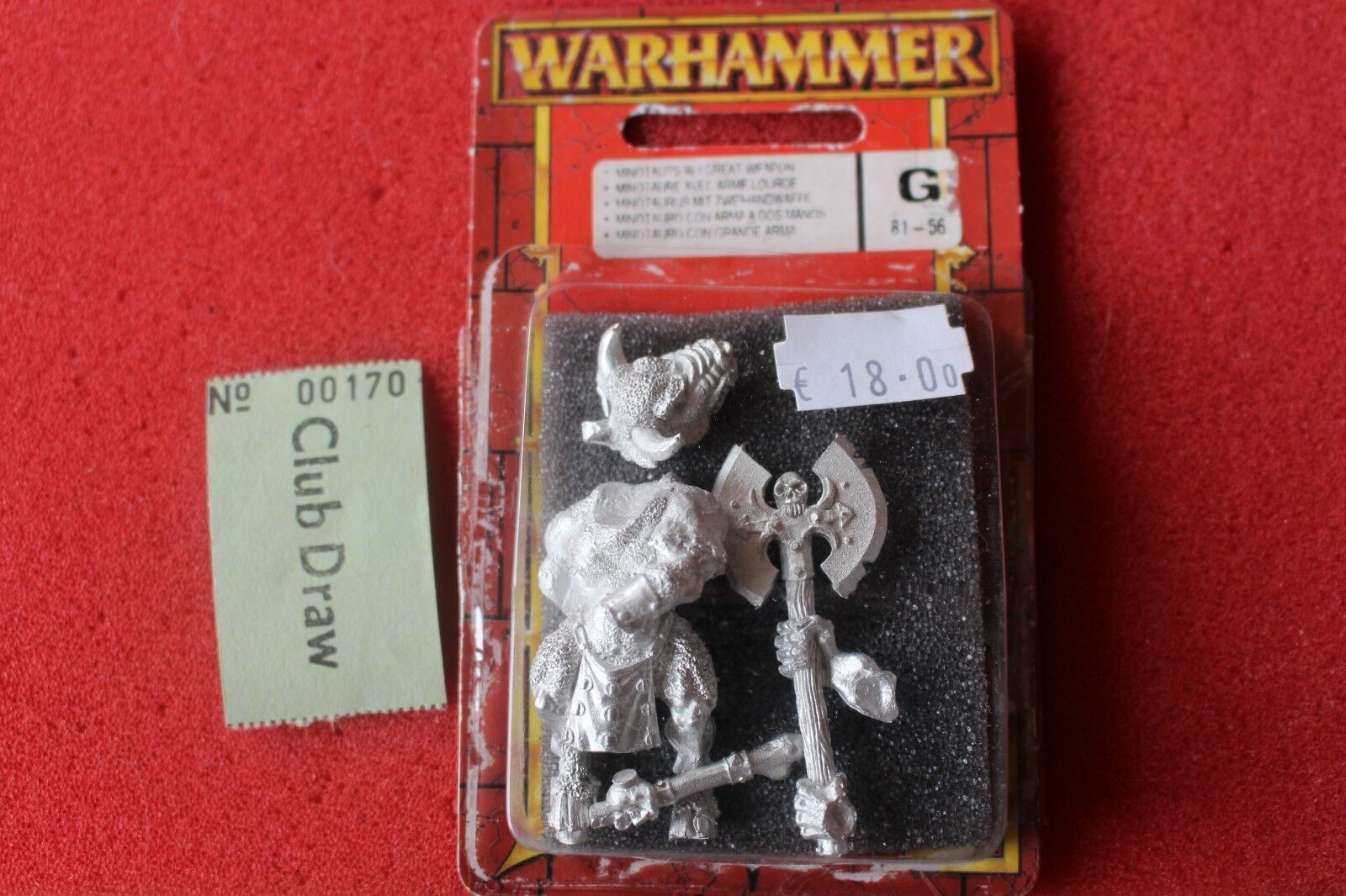 Games Workshop Warhammer Beastmen Minotaur with Great Weapon BNIB New Metal OOP