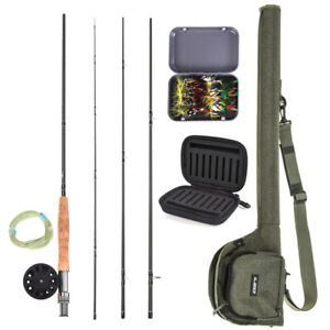 9ft-Fly-Fishing-Rod-Reel-Combo-Kit-Set-5-6-7-8-Fly-Rods-with-Carry-Bag-20-Flies