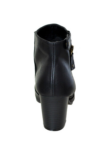 Details about  /New Womens Zipper Ankle Booties Boots Qupid Black Size 9