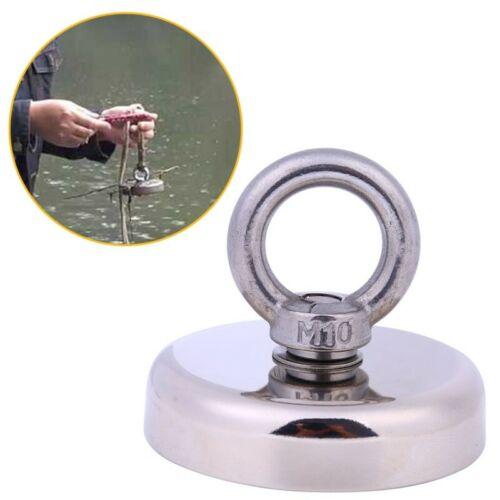 200KG Salvage Neodymium Recovery Magnet 80mm Treasure Hunting Fishing Magnet