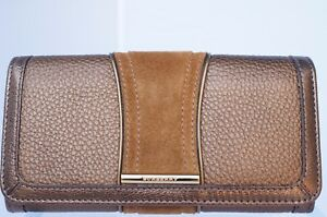 ebac136fdef9 Image is loading New-Burberry-Wallet-Penrose-Continental-Leather-Gold-Bag-