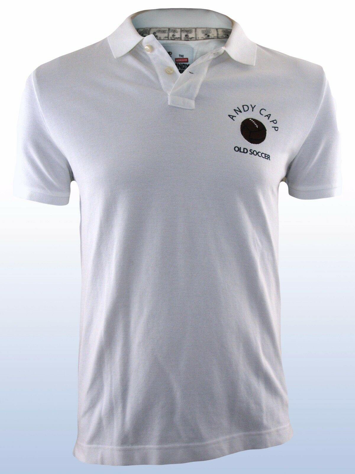 Polo uomo bianco ANDY CAPP official product tg m medium manica corta
