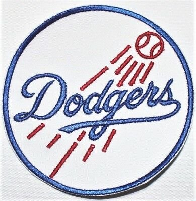 """Los Angeles Dodgers 3.5/"""" Embroidered Iron On Patch."""