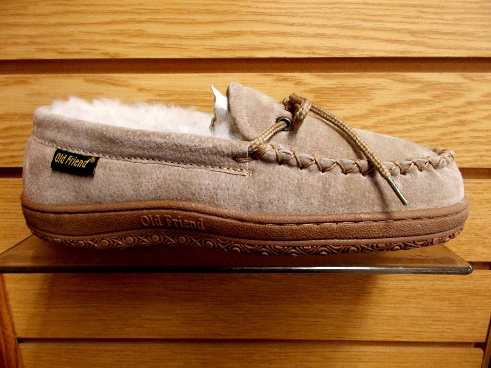 OLD FRIEND WOMEN'S SHEEPSKIN LINED SLIPPER MOCCASIN WIDE SIZES 6 TO 11 NEW