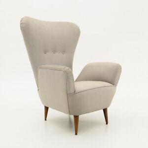 Poltrona con schienale alto anni \'50, mid century armchair, vintage ...