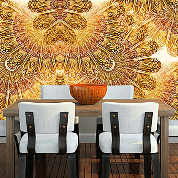 3D Pretty Golden 74  Wall Paper Murals Wall Print Wall Wallpaper Mural AU Lemon