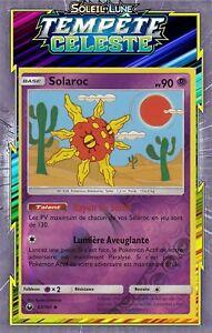 Carte Pokemon SOLAROC 62//168 REVERSE Soleil et Lune 7 SL7 FR NEUF