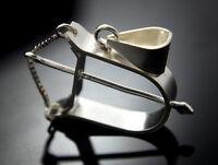 Ochosi Bow Yoruba Protection Bad Eye Sterling Silver .925 Hand Made