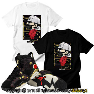 2eb560f8540f NEW Nike Air Jordan VI RETRO 6 chinese new year CUSTOM T SHIRT JD 6 ...