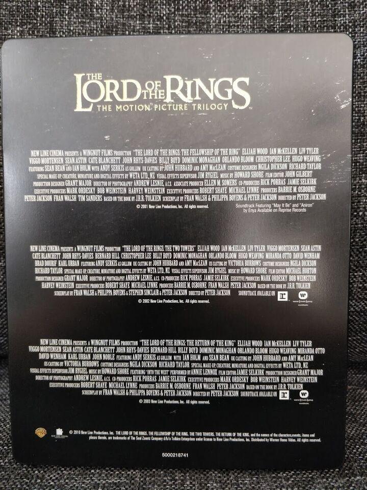 Lord of the Rings Steelbook, Blu-ray, eventyr