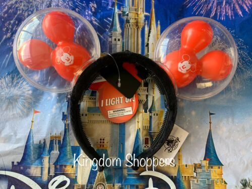 2020 Disney Parks Mickey Mouse Ears Headband Light Up Mickey Mouse Balloon Ears