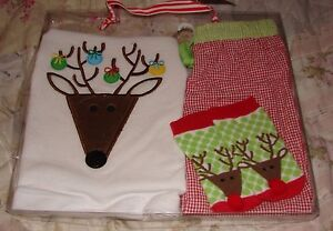 93fce2fe4fb12 MUD PIE BABY BOY 0 6 MONTHS ADORABLE REINDEER OUTFIT SET NEW IN BOX ...