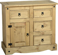 Mexican Pine Corona 1 Door 4 Drawer Sideboard Free Next Day Delivery