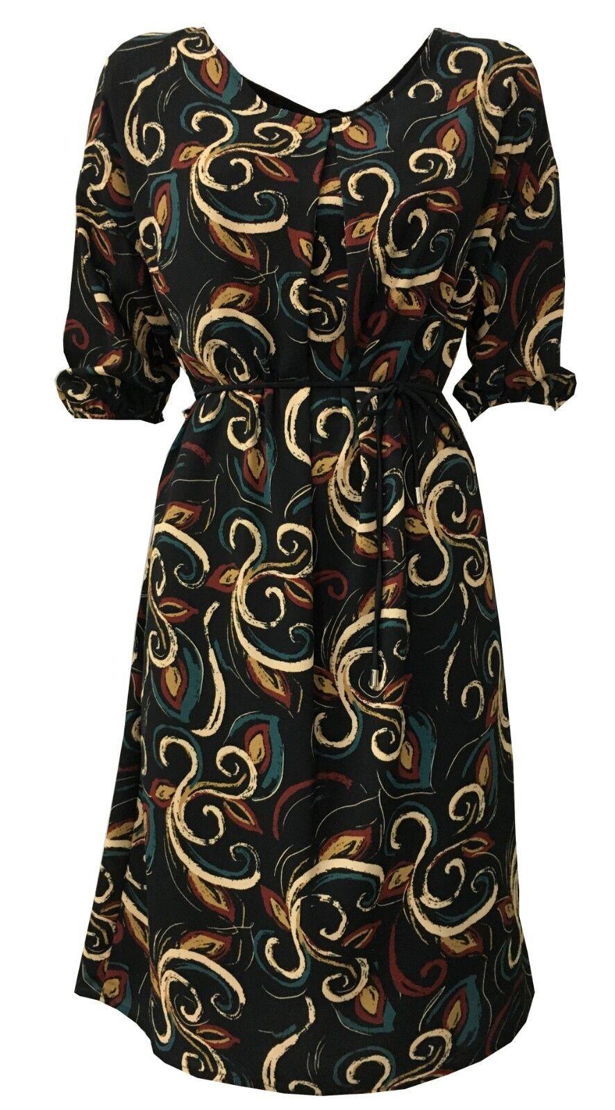 LA FEE MARABOUTEE Kleid Frau schwarz Fantasie mod FB1738 MADE IN ITALY