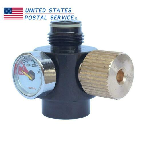 Adjustable 0-2200psi Output Air Regulator Air Tank Paintball High Pressure US