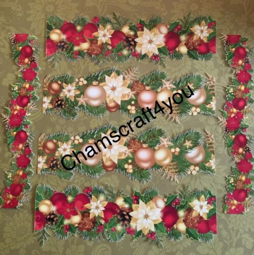 Bundle joblots Christmas Garland Craft clearout Mix Carte Toppers Papier die cuts