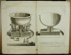 Engraving-18th-1728-Judaica-Israel-Sea-Brazen-Of-Temple-of-Solomon-Plan-Basin