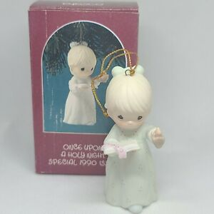 Enesco Precious Moments Collection Once Upon a Holy Night Miniature Ornament