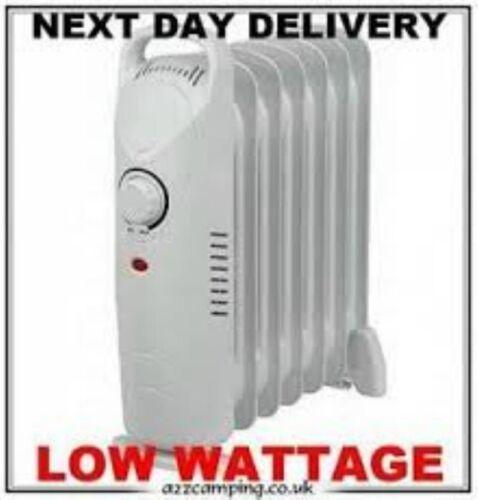 Mini Low Watt Oil Filled Radiator 850 Watts Perfect for Campervans /& Caravans