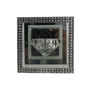 Glass-Crystal-Diamond-Tealight-Candle-Holder-One-Mirror-Diamonte-Hovering-Gift