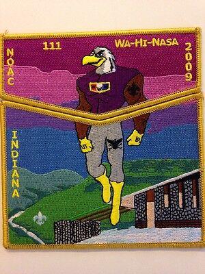 Oa Bsa Wa Hi Nasa Lodge 111 2009 Noac 2 Pc Set Eagle Faces Left Ebay