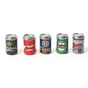 5X-Mini-1-12Puppenhaus-Miniatur-Bierdosen-Essen-amp-Trinken-Ornament-Biere-C8D4