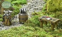 Fairy Garden Miniature Viking Village Weapon Works – Set Of 3 Mini Dollhouse