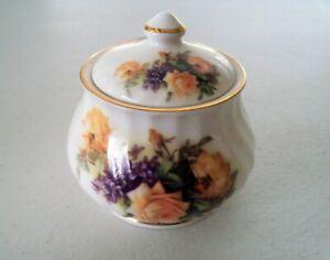 Golden Crown E & R England Bone China Sugar Bowl