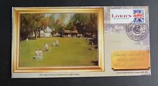 GB 2009 Cricket Australia Lords Painting Bletchley Park FDC Ltd Ed 161 of 250