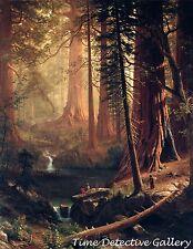 Giant Redwood Trees of California by Albert Bierstadt - Classical Art Print
