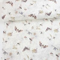 Alexander Henry Fabric A Ghastlie Web Natural PER METRE Spiders Spider Fly Insec