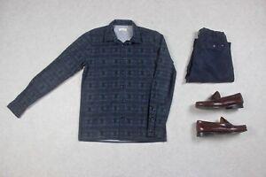 Folk-Shirt-Black-Blue-Pattern-1-Extra-Small