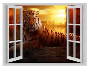 3D Effet Fenêtre Autocollants Muraux Madagascar Autocollant Art Autocollant Vinyle Décoration Murale 15