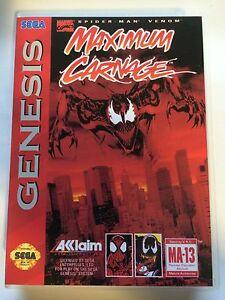 Maximum Carnage Sega Genesis Replacement Case No Game Ebay