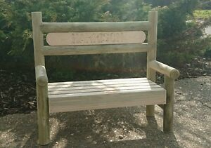 Image Is Loading Personalised Wooden Childrens Garden Bench 2ft Wide