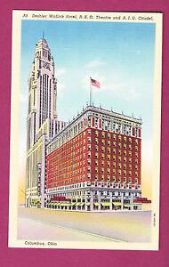 Postcard View Of Deshler Wallick Hotel RKO Theatre And AIU